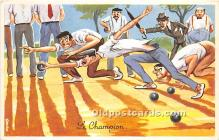 spo032279 - Old Vintage Lawn Bowling Postcard Post Card