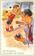 spo032298 - Old Vintage Lawn Bowling Postcard Post Card