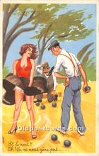 spo032306 - Old Vintage Lawn Bowling Postcard Post Card