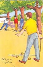 spo032308 - Old Vintage Lawn Bowling Postcard Post Card