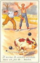 spo032309 - Old Vintage Lawn Bowling Postcard Post Card