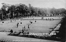 spo032315 - Old Vintage Lawn Bowling Postcard Post Card