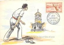 spo032320 - Old Vintage Lawn Bowling Postcard Post Card