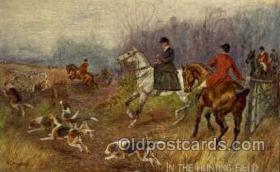 spo033148 - Artist Norah Drummond Hunting Postcard Postcards