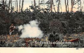 spo033341 - Old Vintage Hunting Postcard Post Card