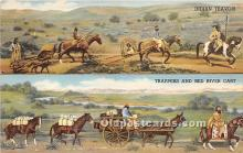 Indian Travois, Trappers and Red River Cart