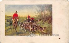 spo033360 - Old Vintage Hunting Postcard Post Card