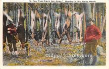 spo033377 - Old Vintage Hunting Postcard Post Card