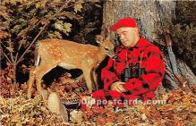 spo033416 - Old Vintage Hunting Postcard Post Card