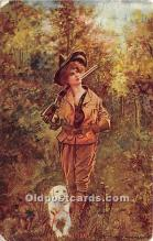 spo033439 - Old Vintage Hunting Postcard Post Card