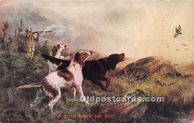 spo033452 - Old Vintage Hunting Postcard Post Card