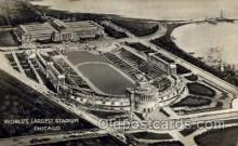 spo036063 - World's Largest Stadium, Chicago, Illinois Football Stadium, Postcard Post Card Old Vintage Antique