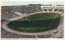 spo036064 - The Coliseum, Exposition Park, Los Angeles, California, USA Football Stadium, Postcard Post Card Old Vintage Antique