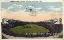 spo036072 - Football Game, Harvard Stadium, Cambridge, Massachusetts, USA Football Stadium, Postcard Post Card Old Vintage Antique