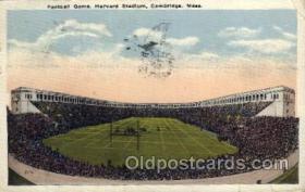 spo036072 - Football Game, Harvard Stadium, Cambridge, Massachusetts, USA Football Stadium, Postcard Post Card Old Vintage Antique