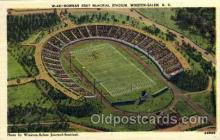 spo036074 - Bowman Gray Memorial Stadium, Winston-Salem, North Carolina, USA Football Stadium, Postcard Post Card Old Vintage Antique