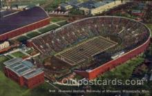 spo036079 - M-59 Memorial Stadium, University of Minnesota, Minneapolis, Minnesota, USA Football Stadium, Postcard Post Card Old Vintage Antique