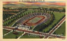 spo036080 - The Baltimore Stadium, Baltimore, Maryland, USA Football Stadium, Postcard Post Card Old Vintage Antique