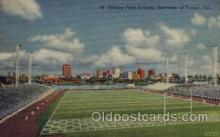spo036084 - Phillips Field Stadium, University of Tampa, Tampa, Florida, USA Football Stadium, Postcard Post Card Old Vintage Antique