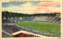 spo036085 - Scott Stadium, University of Virginia, Charlottesville, Virginia, USA Football Stadium, Postcard Post Card Old Vintage Antique