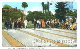 spo041001 - Clearwater, Florida, USA Shuffle Board, Shuffleboard, Postcard Postcards