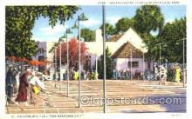 spo041007 - St. Petersburg, Florida Mirror Lake Park, Shuffle Board, Shuffleboard, Postcard Postcards
