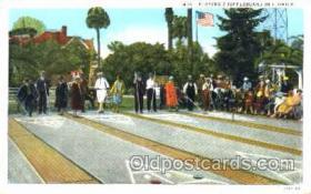 spo041010 - Florida, USA Shuffle Board, Shuffleboard, Postcard Postcards