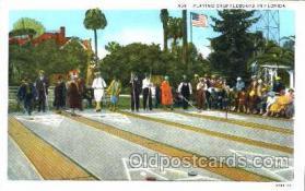 spo041016 - Florida, Shuffle Board, Shuffleboard, Postcard Postcards