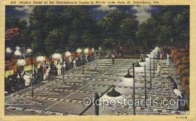spo041023 - Shuffleboard Courts in Mirror Lake Park Shuffle Board, Shuffleboard Postcard Postcards