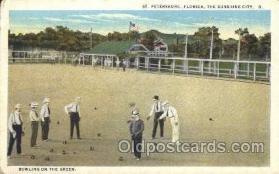 spo041026 - Bowling on the Green  Lawn Bowling, Postcard Postcards