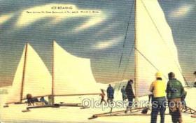 spo042004 - Ice Boating, Postcard Postcards