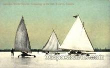 spo042011 - Toronto, Canada, Ice Boating, Postcard Postcards