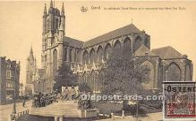La Cathedrale Saint Bavon et le monment des freres Van Eyck
