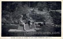 spo045111 - Schroon Lake, New York, USA Warer Cycling, Water Skiing Postcard Postcards