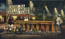 spo046083 - West Flagger Kennel Club, Miami Beach, FL USA Dog Racing, Old Vintage Antique Postcard Post Card
