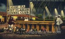 spo046084 - West Flagger Kennel Club, Miami Beach, FL USA Dog Racing, Old Vintage Antique Postcard Post Card