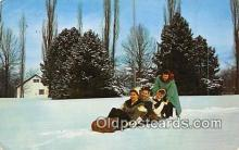 spo048003 - Sleigh Riding Postcard