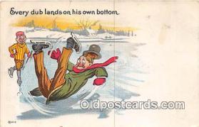 spo049010 - Ice Skating Postcard