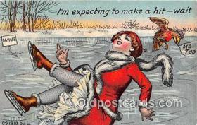 spo049018 - Ice Skating Postcard