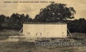 spo050011 - Handball Court, Ted Hilton's Elm Camp, Leesville, Conn. USA, Postcard Postcards