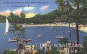 spo050043 - Fairy Stone State Park, Southern Virginia, USA Misc. Sports Postcard Postcards