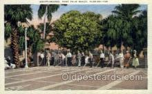 spo060001 - West Palm Beach FL USA Shuffleboard Sports, Old Vintage Antique Postcard Post Cards