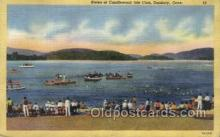 spo060011 - Races at Candlewood Isle Club Danbury, Conn USA Boat Races, Sports, Old Vintage Antique Postcard Post Cards