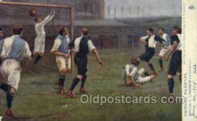 spo060012 - Soccer, Sports, Old Vintage Antique Postcard Post Cards