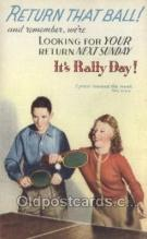 spo060014 - Rally Day Table Tennis, Sports, Old Vintage Antique Postcard Post Cards