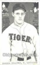 spo070026 - Haskell Billings Baseball Postcard Detroit Tigers Base Ball Postcard Post Card