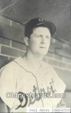 spo070028 - Neil Berry Baseball Postcard Detroit Tigers Base Ball Postcard Post Card