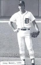 spo070049 - Doug Baker Baseball Postcard Detroit Tigers Base Ball Postcard Post Card
