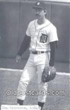 spo070058 - Tom Brookens Baseball Postcard Detroit Tigers Base Ball Postcard Post Card