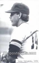 spo070061 - Dave Bergman Baseball Postcard Detroit Tigers Base Ball Postcard Post Card